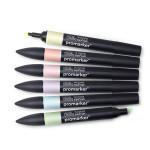 Promarker - Set de 6 marqueurs Tons pastels