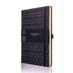Carnet de notes ligné Black&Gold 13 x 21 cm Honeycomb