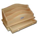Accessoires de bureau en bois 33 x 17 x 14 cm
