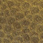 Papier Lokta Imprimé 50 x 75 cm Gris motif Rond dans l'eau or