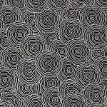 Papier Lokta Imprimé 50 x 75 cm Gris motif Rond dans l'eau argent