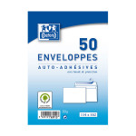 Enveloppe blanche auto-adhésive 114 x 162 mm 50 pcs