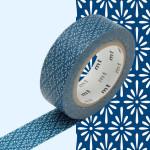 Masking Tape 1P Hanabishi tomekon Fleurs bleues 15 mm x 10 m