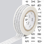 Masking Tape ex Caractères typographiques 15 mm x 10 m