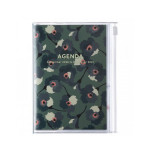 Agenda semainier 2021 Vert flower format A6