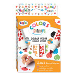 Feutre double pointes avec Tampon Colors Stamps 6 pcs