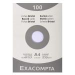Fiche Bristol blanc Q 5x5 100 feuilles - 10 x 15 cm
